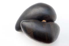 Bog oak and bronze 50 cm x 50 cm x 35 cm